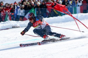 Photo taken by Thomas Grollier, taken off the edge of the track in the Giant Slalom. 18 February 2006
