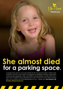 She almost died for a parking space