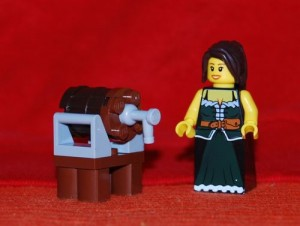 Das Bierhall Wench and the Big Holiday Lego-Keg