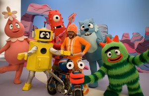 "Jack Black guest-starring on ""Yo Gabba Gabba!"""