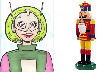 Super Martian Robot Girl and the Nutcracker: But which is which?